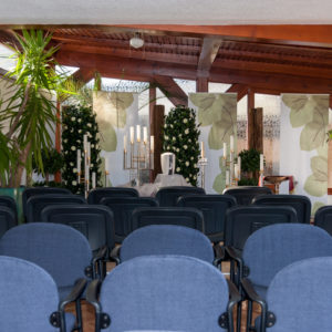 Minge Bestattungsinstitut Kapelle Innenansicht